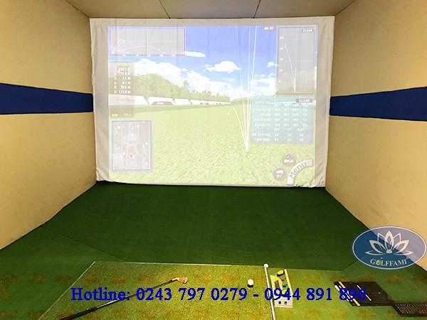 Thi công lắp đặt phòng tập golf 3d