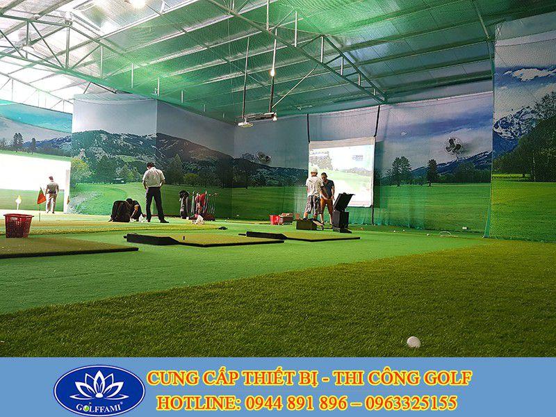 Quy trình lắp đặt phòng golf 3D tại Golffami