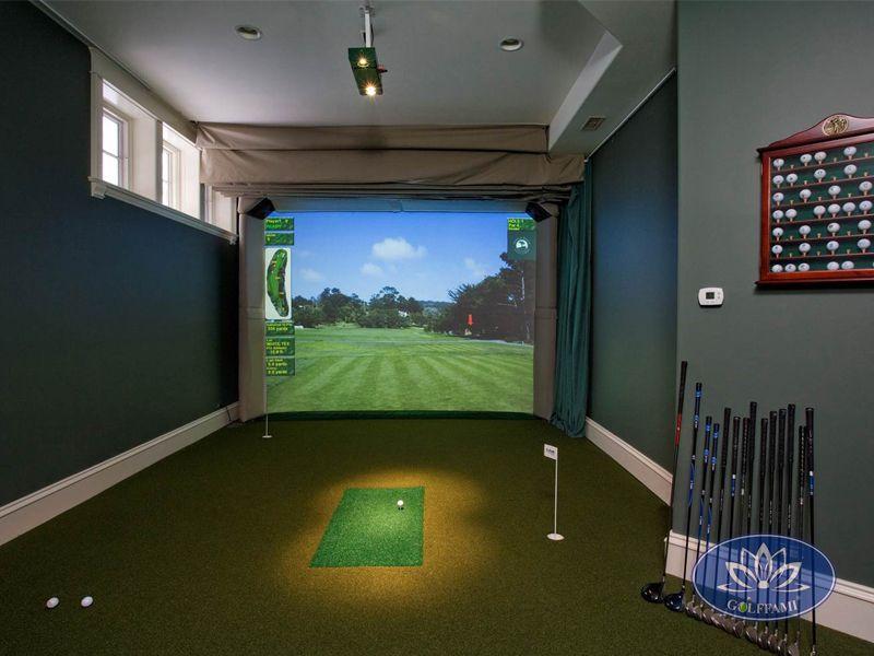 chơi golf thú vị tại phòng tập golf 3d ở Hà Nội