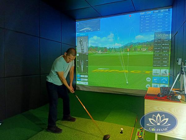 Hoàn thiện phòng tập golf 3D tại Hải Phòng