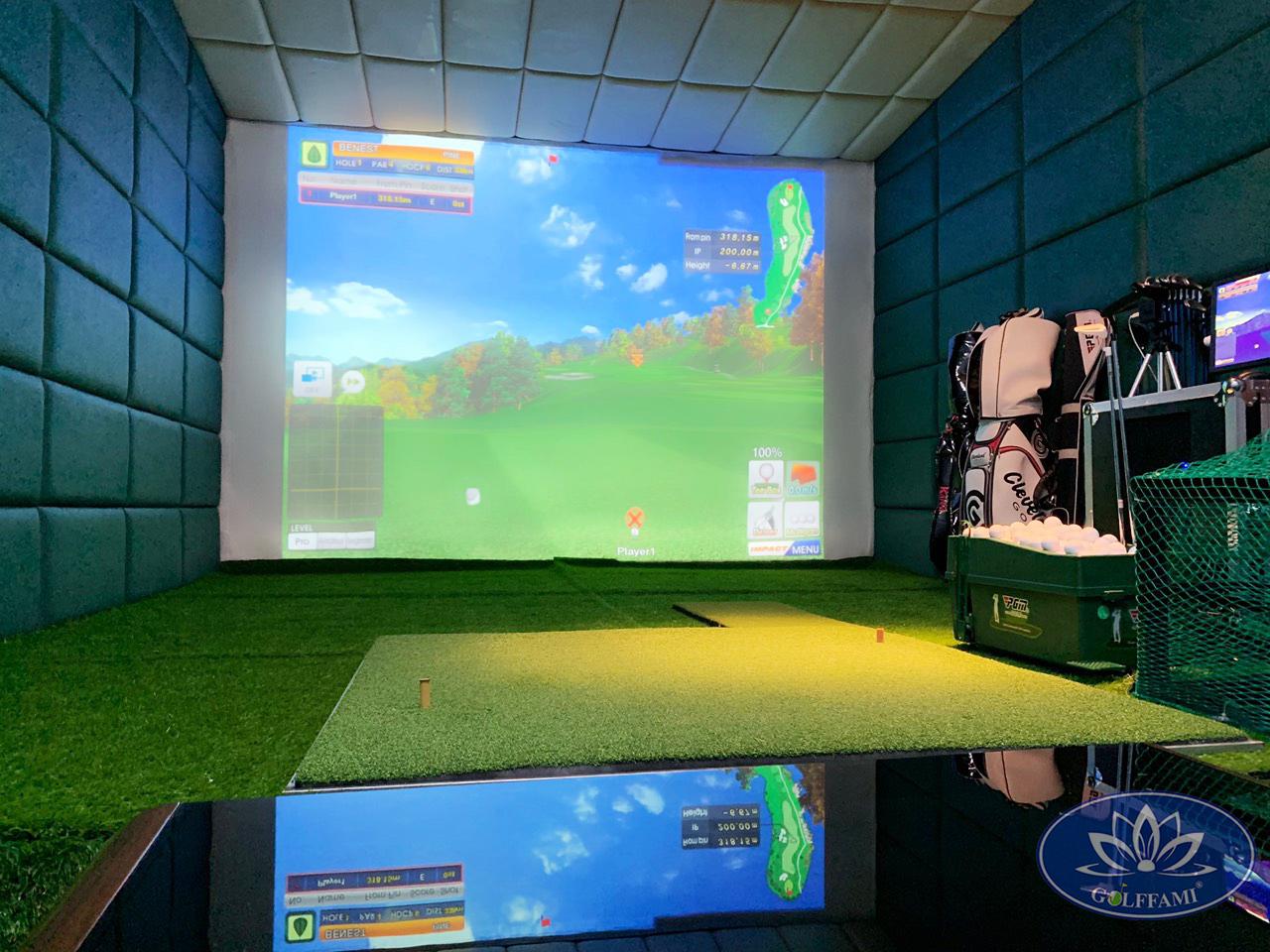 Lắp đặt thi công phòng golf 3d linh lang