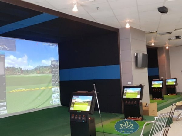 Thi công phòng tập golf 3D tại Đông Anh