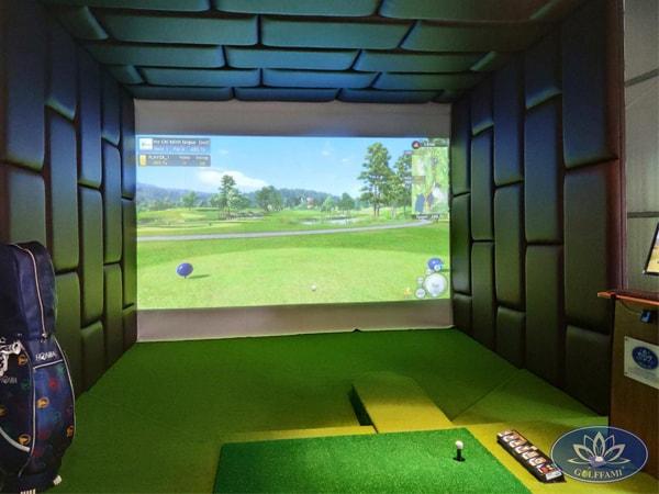 Phòng golf 3D Lạc Long Quân ốp da cao cấp
