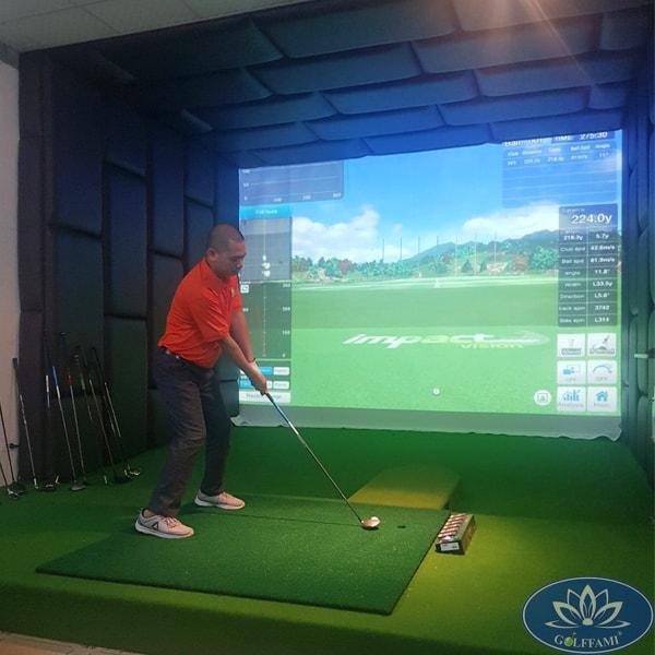 Phòng golf 3D ốp da tại Bà Rịa Vũng Tàu