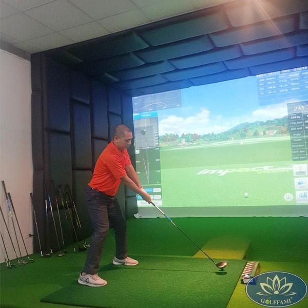 Phòng golf 3D ốp da cao cấp tại Vũng Tàu