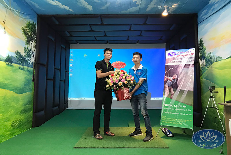 Bàn giao phòng golf 3d Trần Duy Hưng