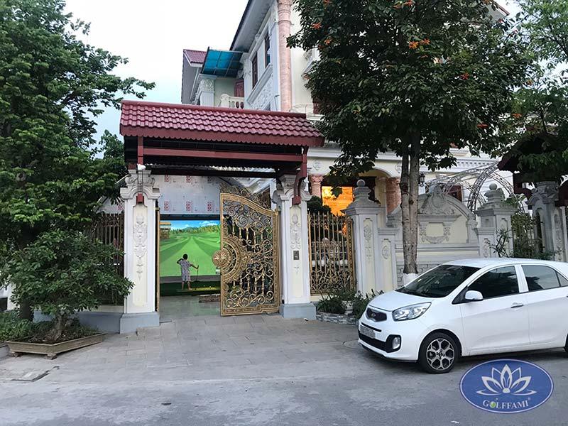 Thi công phòng golf 3d Bắc Ninh
