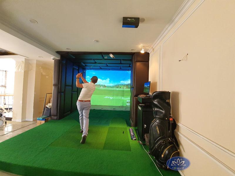Phòng golf 3d tại công ty xây dựng Sài Gòn Vĩnh Thanh