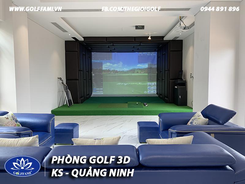 Phòng golf 3d khách sạn Quảng Ninh