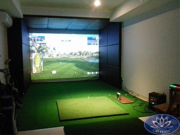 Thi công phòng golf 3D tại Vũ Tông Phan Hà Nội