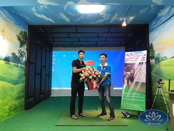 Golffami thi công phòng golf 3d Trần Duy Hưng