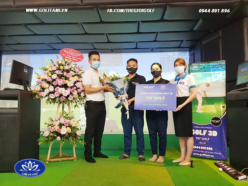 Bàn giao chuỗi phòng golf 3d TAT golf Hà Nội