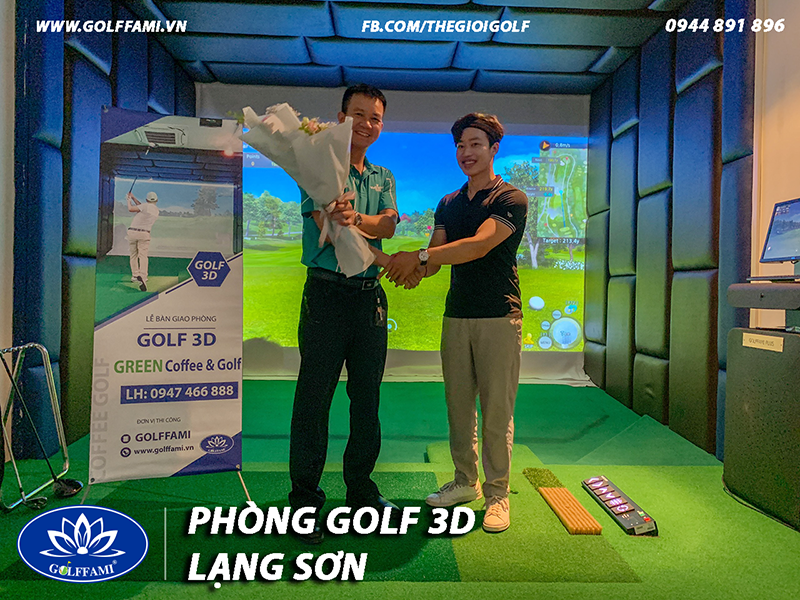 Golffami thiết kế thi công chuỗi phòng golf 3d TP Lạng Sơn